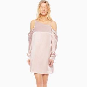 NWT PARKER Camille Asymmetric Silk Satin Dress